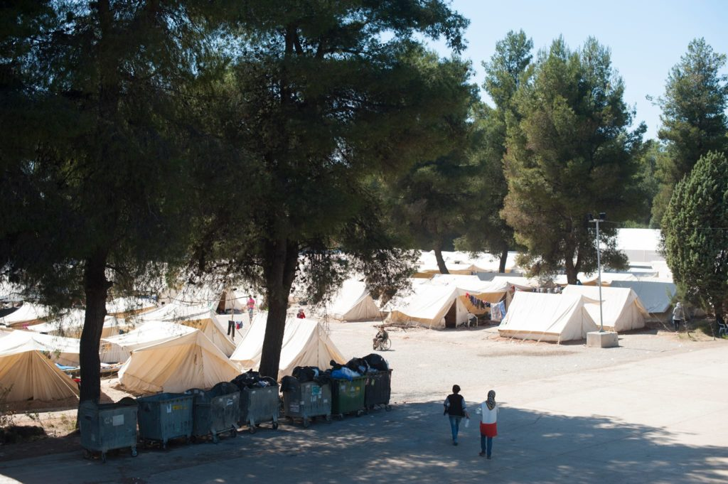 Ritsona camp, currently housing around 700 refugees (Photot: Lighthouse Relief)