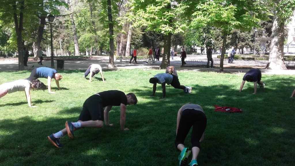 The ab workout from hell. Madrid For Refugees' boxing class in Retiro Park