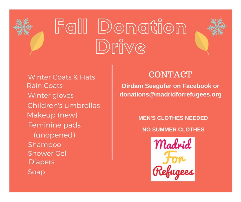 Fall Donation Drive