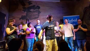 Laughing for good reason—Madrid for Refugees' first benefit comedy night