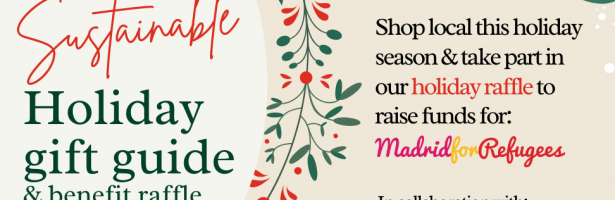 Sustainable holiday gift guide and benefit raffle