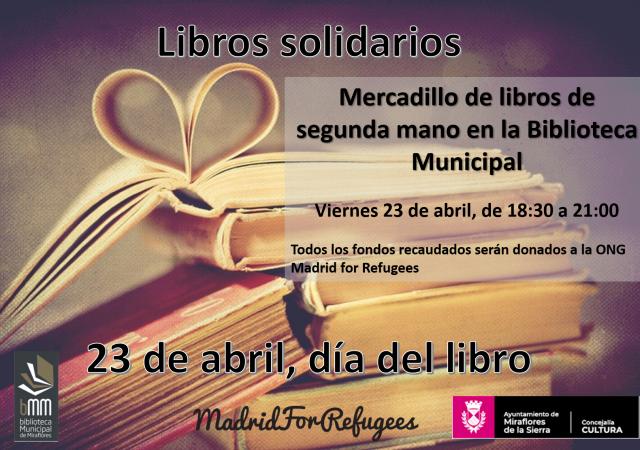 Miraflores de la Sierra organiza un evento especial para el Día del Libro y colaborar con Madrid For Refugees